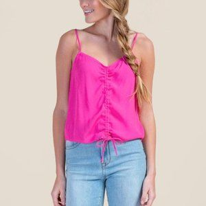 Francesca's   NWT Candace Cinched Front Tank Top